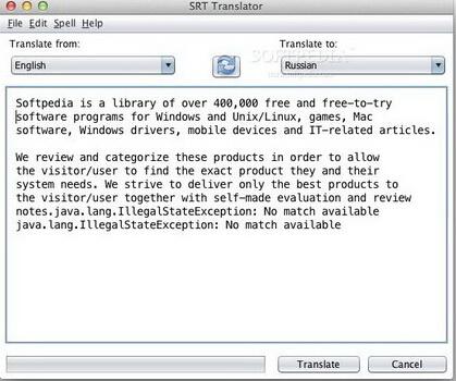 SRT Translator 5.2(SRT翻译专家) - 截图1