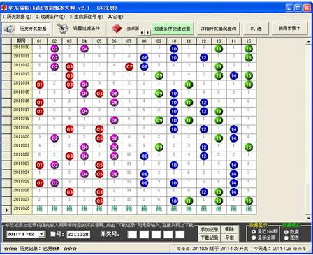 华东福彩15选5智能缩水大师 3.0 Build 0624(彩票专家) - 截图1