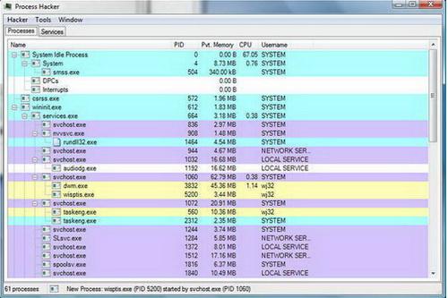 Process Hacker 2.36(程序管理专家) - 截图1