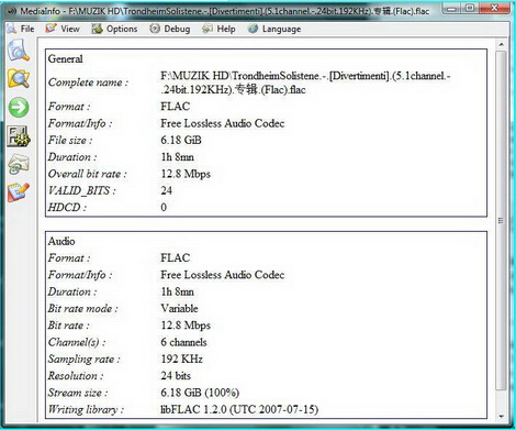 MediaInfo 0.7.75(视频参数检测工具) - 截图1