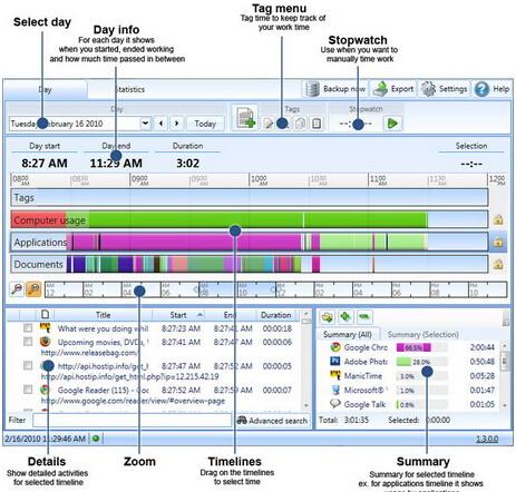 ManicTime 3.1.23.0(数据收集软件) - 截图1