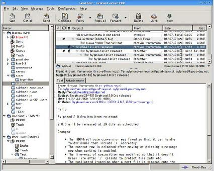 Sylpheed 3.4.3(电子邮件客户端) - 截图1