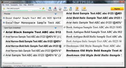 Typograf 5.2(字体管理工具) - 截图1