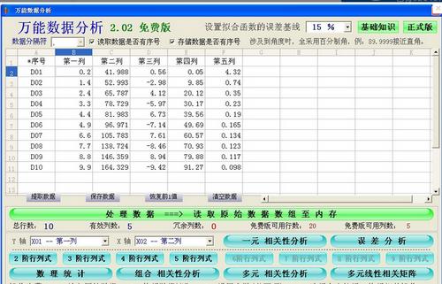 万能数据分析软件(数据分析软件下载) v2.02免费版 - 截图1