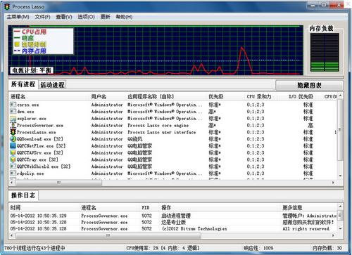 Process Lasso V8.8.2.0 官方免费版 x64位(系统进程优化软件) - 截图1