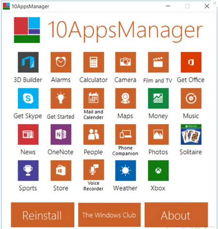 10AppsManager,10AppsManager下载,Win10预装卸载