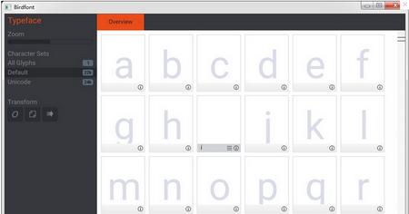 Birdfont V2.11.4官方免费版(字体编辑器) - 截图1