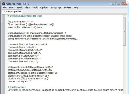 SciTE V3.6.1免费版(文本编辑工具) - 截图1