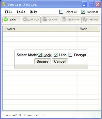 Secure Folder V8.0.5(文件夹加密软件) - 截图1