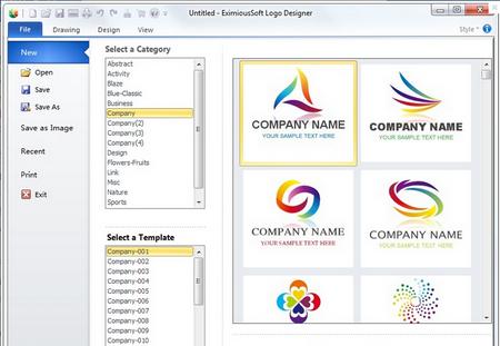 EximiousSoft Logo Designer V3.81官方版(Logo设计软件) - 截图1