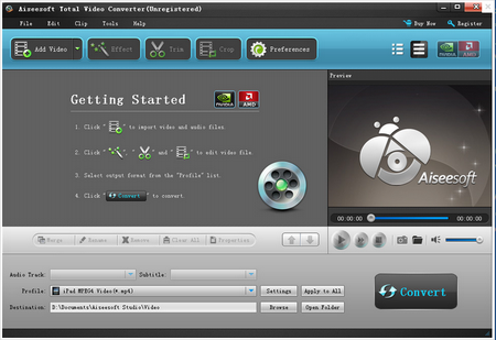 Aiseesoft Total Video Converter V9.0.6.0官方版(视频转换工具) - 截图1