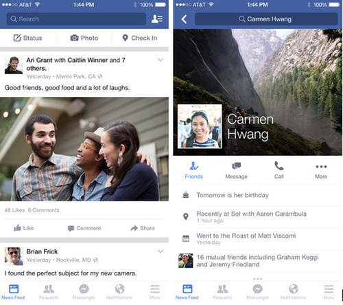 Facebook脸谱 for iPhone(娱乐社交) - 截图1