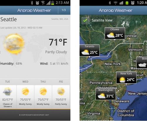 安卓天气 V5.7.1.1官方版for android (天气查询) - 截图1