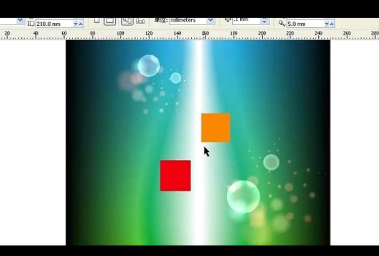CorelDRAW教程-正方形的绘制