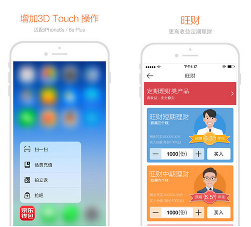 京东钱包 for iPhone(在线支付) - 截图1