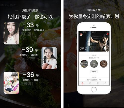 薄荷爱瘦身 for iPhone(减肥必备) - 截图1