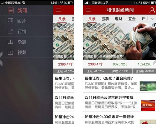 和讯财经 V4.1.8官方版for android(财经新闻) - 截图1