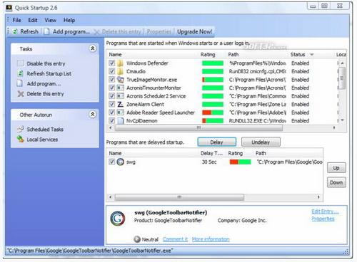 Quick StartUp 5.10.1.102(启动栏管理) - 截图1