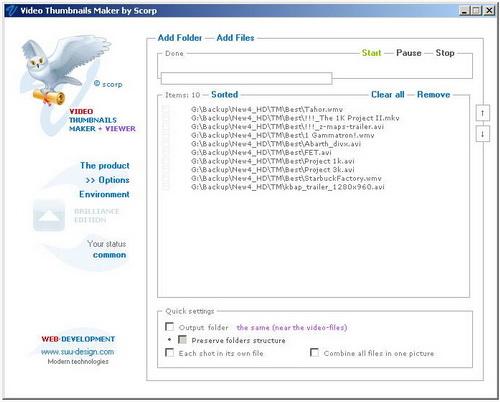 Video Thumbnails Maker 6.5.0.0(图像抓取软件) - 截图1
