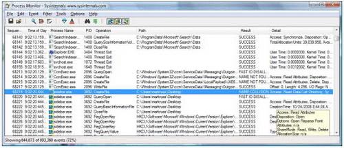 Process Monitor 3.11(系统进程监控软件) - 截图1