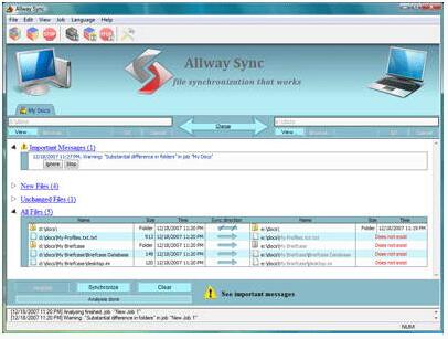 Allway Sync (32-Bit) 15.1.9(数据同步工具) - 截图1
