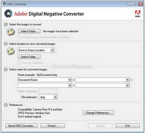 Adobe DNG Converter 9.0(图片格式转换器) - 截图1