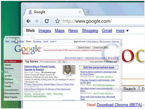 谷歌浏览器Google Chrome 43.0.2357.37 Beta(主页浏览工 - 截图1