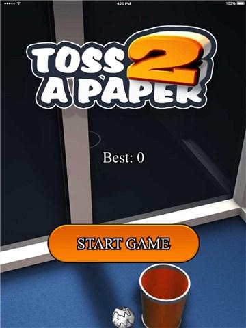 比赛扔纸团for iPhone苹果版6.0(休闲娱乐) - 截图1