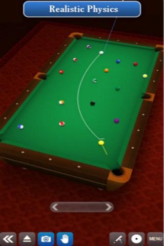 3D桌球for iPhone苹果版7.0(桌球竞技) - 截图1