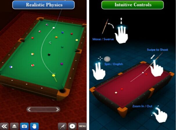 3D桌球for iPhone6.0(竞技娱乐) - 截图1