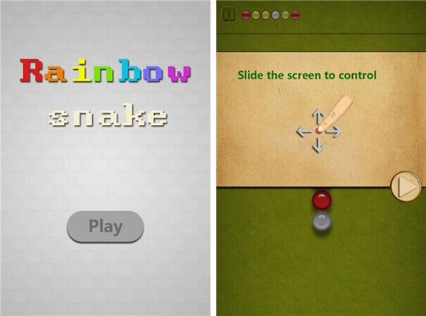彩虹蛇for iPhone5.0(益智消除) - 截图1