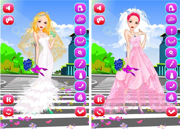 时尚街婚礼换装for iPhone5.1(益智换装) - 截图1