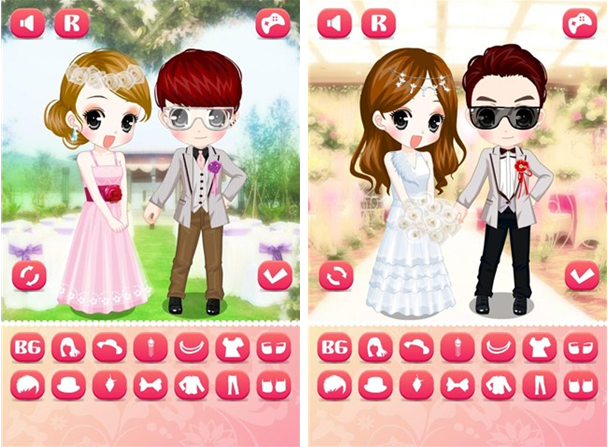 花新娘换装for iPhone5.0(益智换装) - 截图1