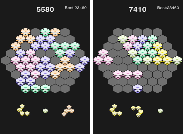 六边形消除for iPhone6.0(益智消除) - 截图1