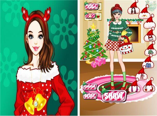 挑选圣诞节服装for iPhone5.1(益智换装) - 截图1