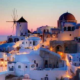 希腊圣托里尼唯美风景壁纸