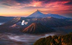 日出与日落 异曲同工之妙自然之美壁纸