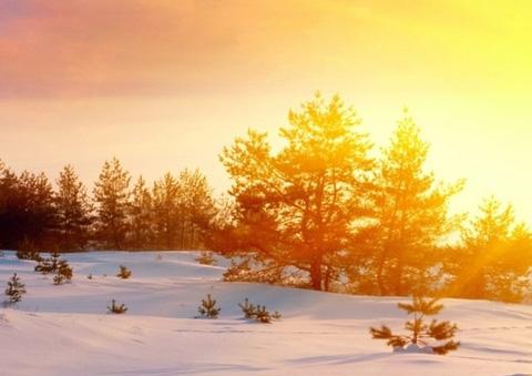 如梦如幻雪中阳 最美不过夕阳雪 雪景壁纸下载