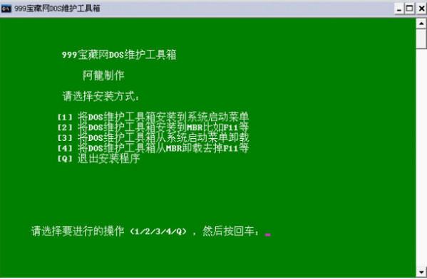 999宝藏网DOS维护工具箱V1.0 加强版 - 截图1