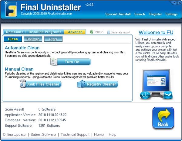 Final Uninstaller(卸载清理工具) v2.6.8 - 截图1