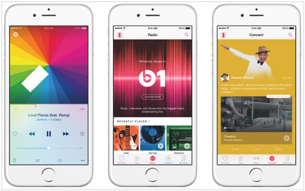 苹果发布流媒体音乐服务