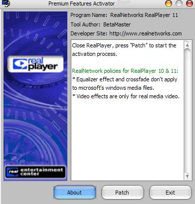 RealPlayer 11.0 插件大全正式版 - 截图1