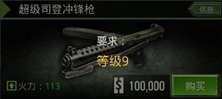 火线指令超级司登冲锋枪怎么样 司登冲锋枪好用么