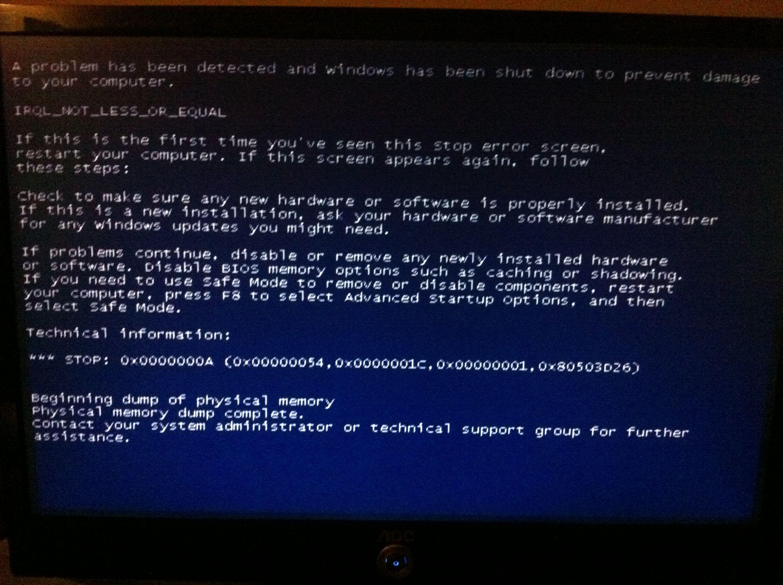 电脑为何会蓝屏 蓝屏后该怎么办呢