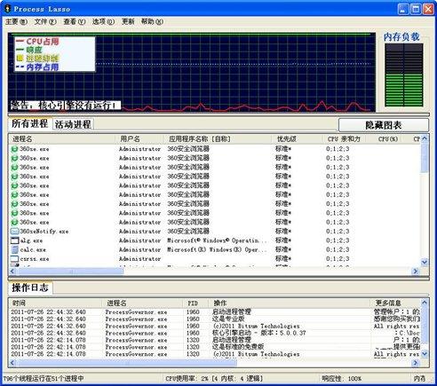 cpu优化工具(ProcessLasso)绿色中文版 v8.9.0.0 - 截图1