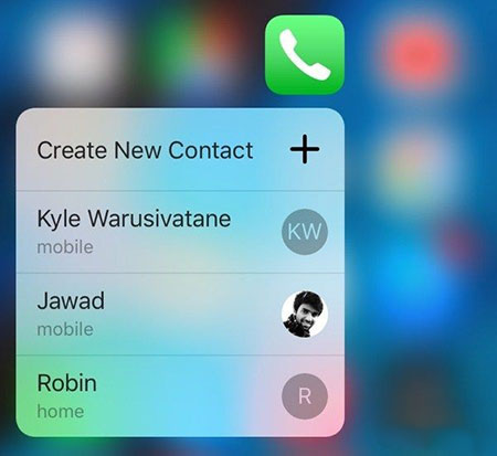 iPhone用3D Touch添加联系人至快捷菜单教程