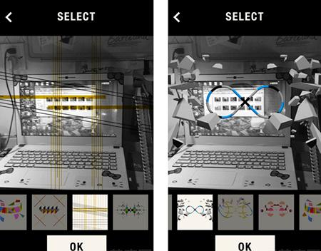 metomecamera测评:几何元素的自拍相机