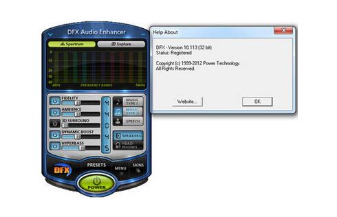 DFX Audio Enhancer(音效增强软件)官方英文版 v12.014 - 截图1