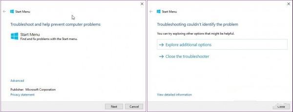 微软发布Win10开始菜单无响应修复工具