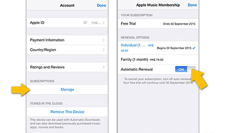 Apple Music防止试用到期后自动续费教程2
